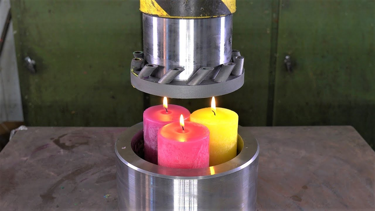 Crushing Candles with 3D Printed Steel Press Tool