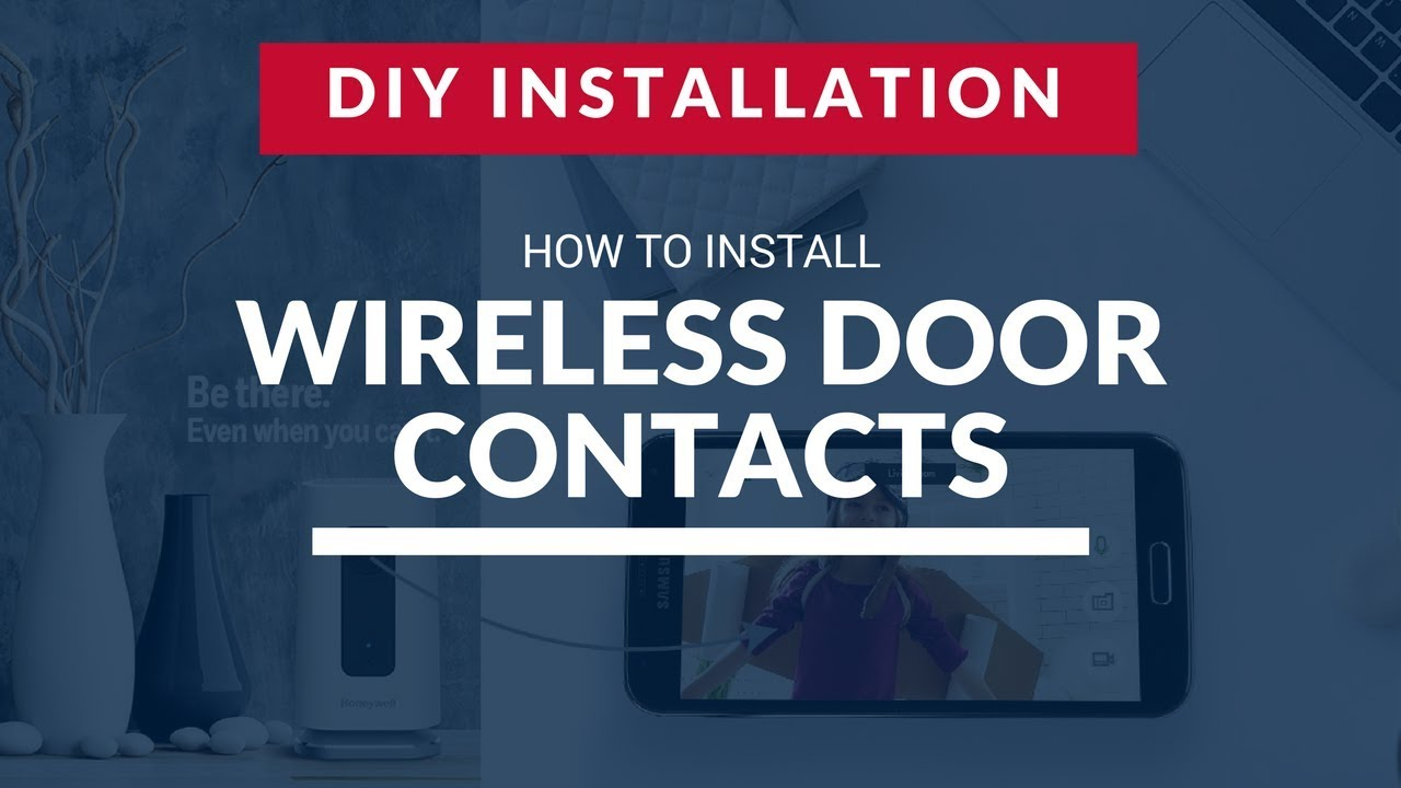 How To Install Smart Security Wireless Door Contacts Youtube