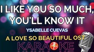A LOVE SO BEAUTIFUL OST - Ysabelle Cuevas (KARAOKE)