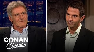 "Harrison Ford Meets ""Indiana Jones"" Super Fan Jordan Schlansky - ""Late Night With Conan O'Brien"""