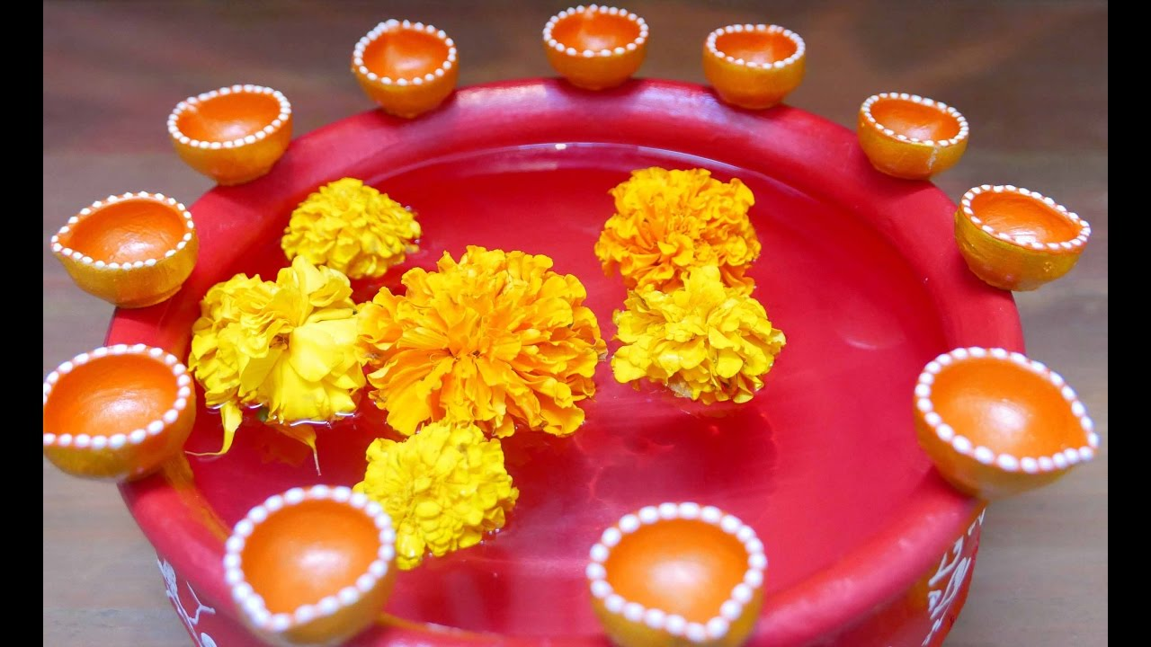Diy Diwali Home Decoration Ideas How To Decorate Diwali Diyas Youtube