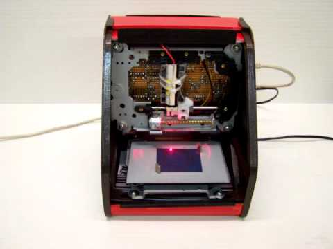 DIY Laser Engraver Cutting a Head Gasket for a Model Engine
