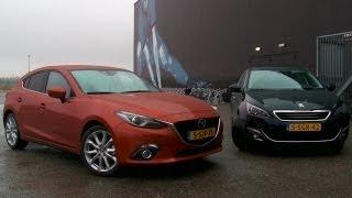 Mazda 3 vs. Peugeot 308 English subtitled