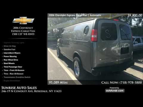 Used 2006 Chevrolet Express Cargo Van | Sunrise Auto Sales, Rosedale, NY