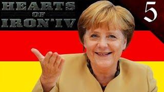 MERKEL'S FOURTH REICH! HEARTS OF IRON 4: MODERN DAY: GERMANY ANGELA MERKEL EP. 5