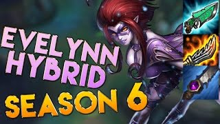AP/Hybrid Evelynn Jungle Season 6 Gameplay - League of Legends LoL Evelynn Season 6
