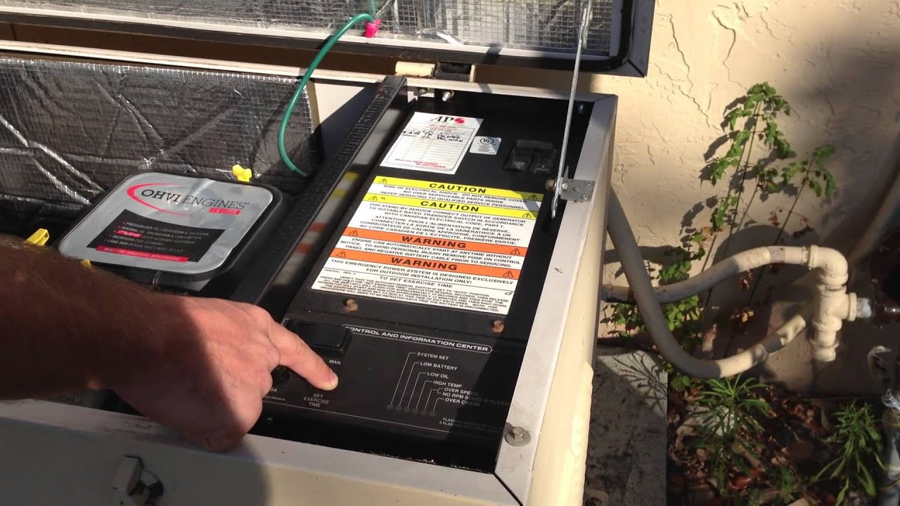 How To Set Exercise Time on Generac Air Cooled Generator Pre Nexus  Controller APSwrap - YouTubeYouTube