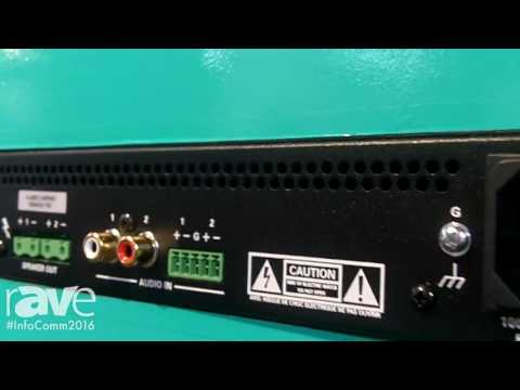 InfoComm 2016: Crestron Electronics Inc Demos Modular Amplifier Series