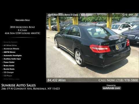 Used 2010 Mercedes-Benz E-Class | Sunrise Auto Sales, Rosedale, NY