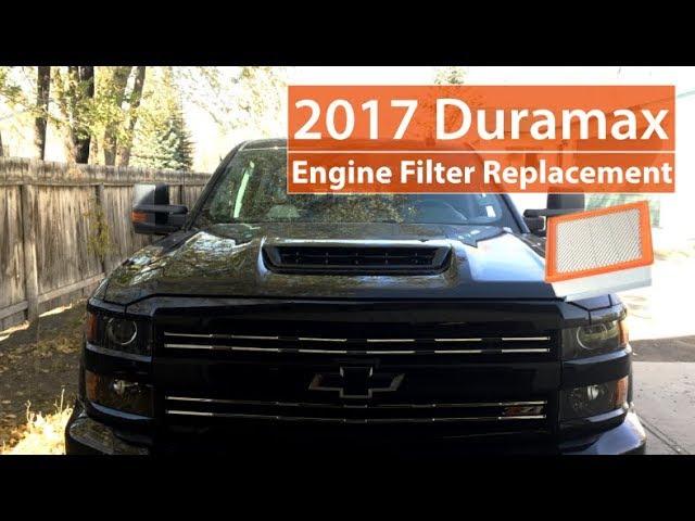 2017 Duramax Engine Air Filter Service L5p Youtube