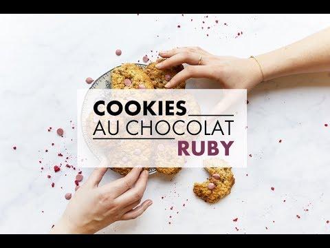 recette-:-cookies-au-chocolat-rose,-à-l'avoine-et-à-la-framboise- -elle-à-table-belgique