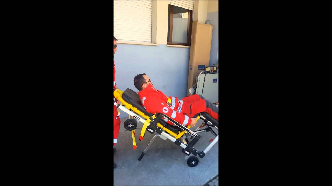 Spencer Cross Chair In Action | Stretcher And Transport Chair   YouTube