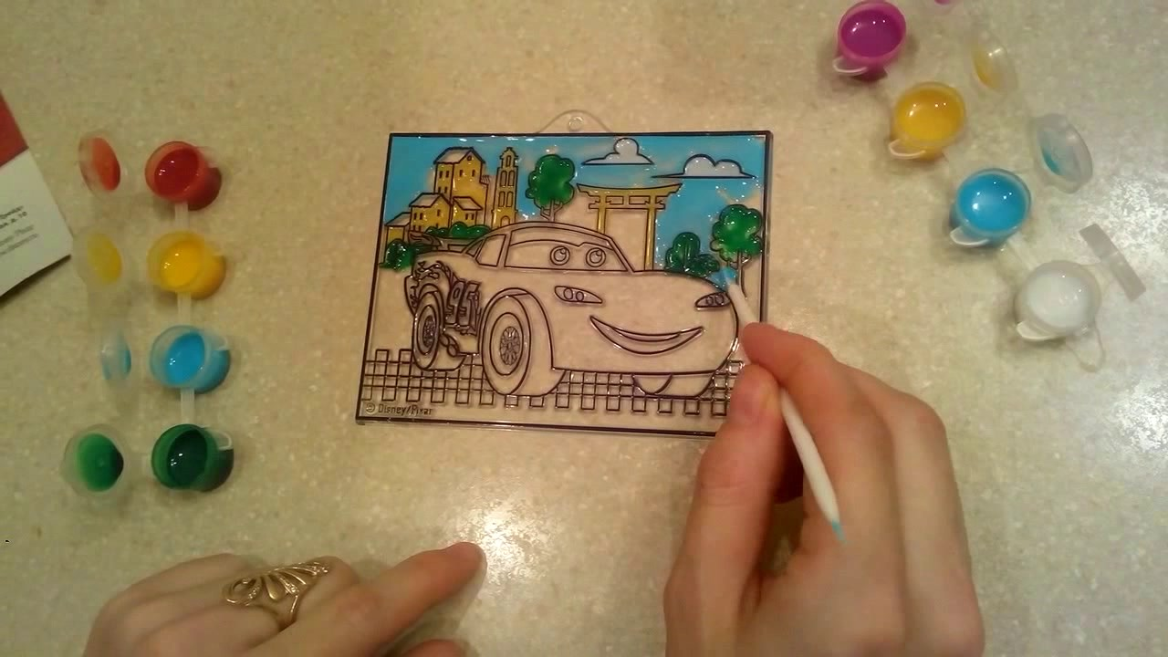 Раскраска Молния Маккуин из мультика Тачки. Учимся красить ...