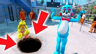 BONNIE AND CHICA BREAK OUT OF MAXIMUM PRISON! (GTA 5 Mods For Kids FNAF Funny Moments)