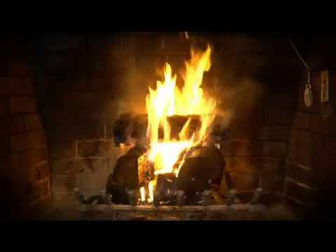 fond d 39 cran pour t l vision feu de bois 1 youtube. Black Bedroom Furniture Sets. Home Design Ideas