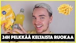 SYÖN 24H AJAN PELKKÄÄ KELTAISTA RUOKAA!