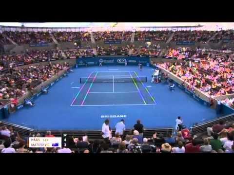 Tommy Haas v Marinko Matosevic - Men's Singles Rd 1: Brisbane International 2012