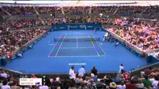 Tommy Haas v Marinko Matosevic - Men's Singles Rd 1: Brisbane International 2012