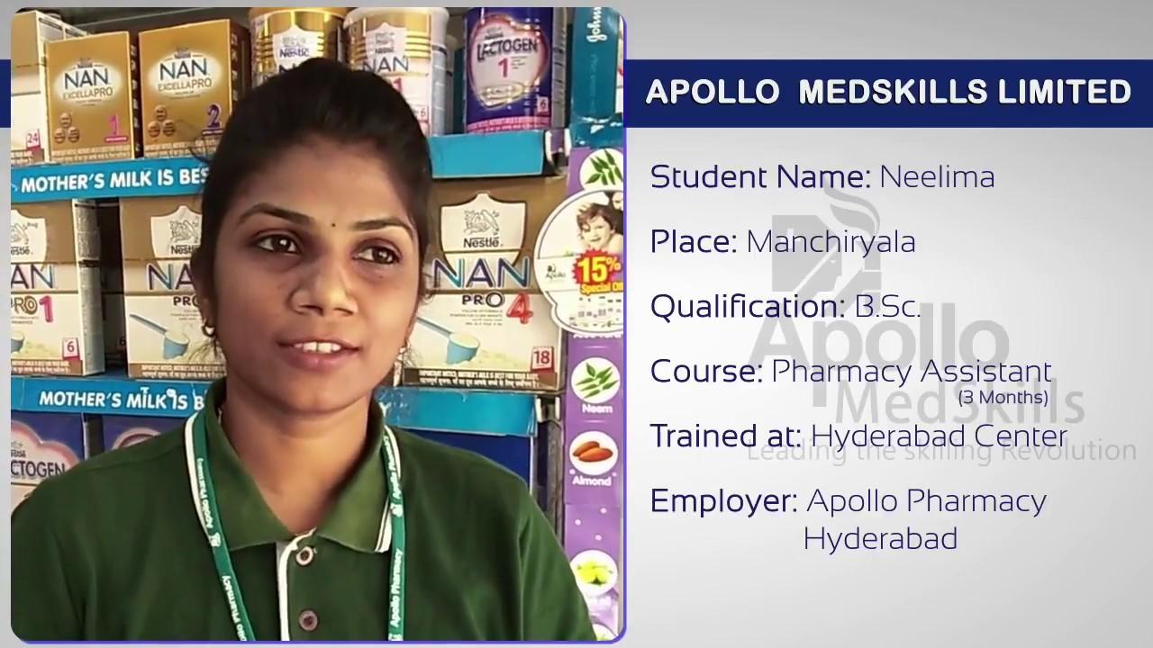 Apollo MedSkills Student Testimonial | Ms Neelima – Pharmacy Assistant |  DDUGKY
