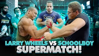 LARRY WHEELS vs SCHOOLBOY LEFT-HANDED AND RIGHT-HANDED SUPERMATCHES