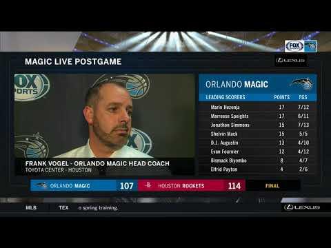 Frank Vogel --Orlando Magic at Houston Rockets 01/30/18