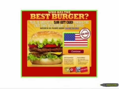 in and out burger gift card get a 25 burger king gift card for free youtube 6356