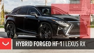 Vossen Hybrid Forged HF-1 Wheel | Lexus RX F-Sport | Satin Black