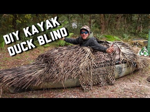 My Kayak Hunting Blind Setup | Kayak Duck Hunting
