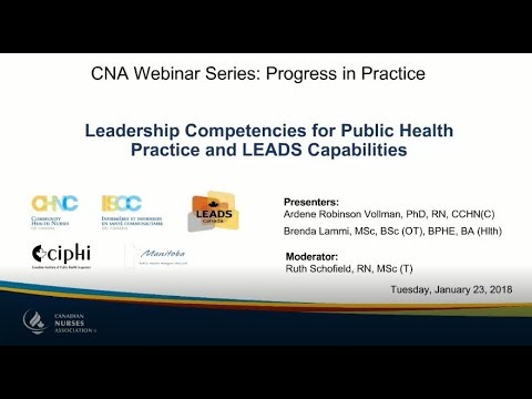 Leadership Competencies for Public Health Practice and... (Presented in partnership with CHNC)
