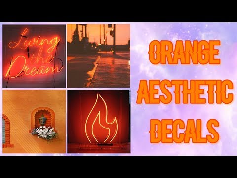 Roblox Bloxburg Orange Aesthetic Decal Id S Youtube