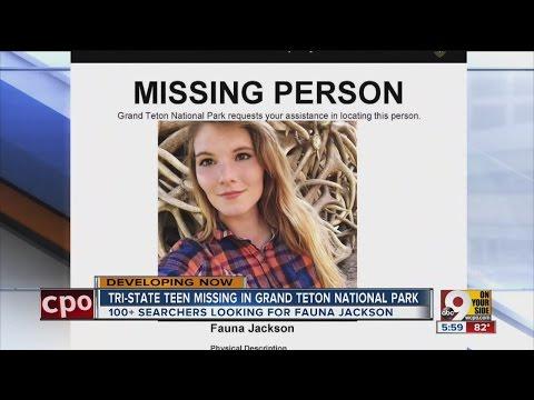 Cincinnati teen Fauna Jackson missing in Grand Teton National Park
