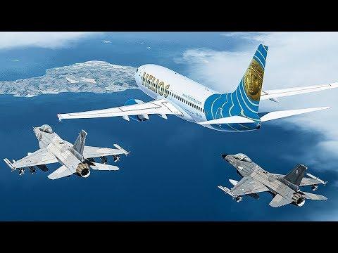 Ghost Plane   No One in Control of this Boeing 737   Helios Airways Flight 522   4K