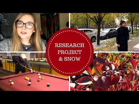 college vlog // research project and snow