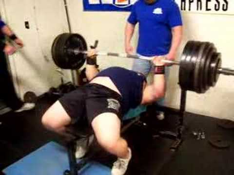 Nick W 600 Plus Raw Bench Press For Reps