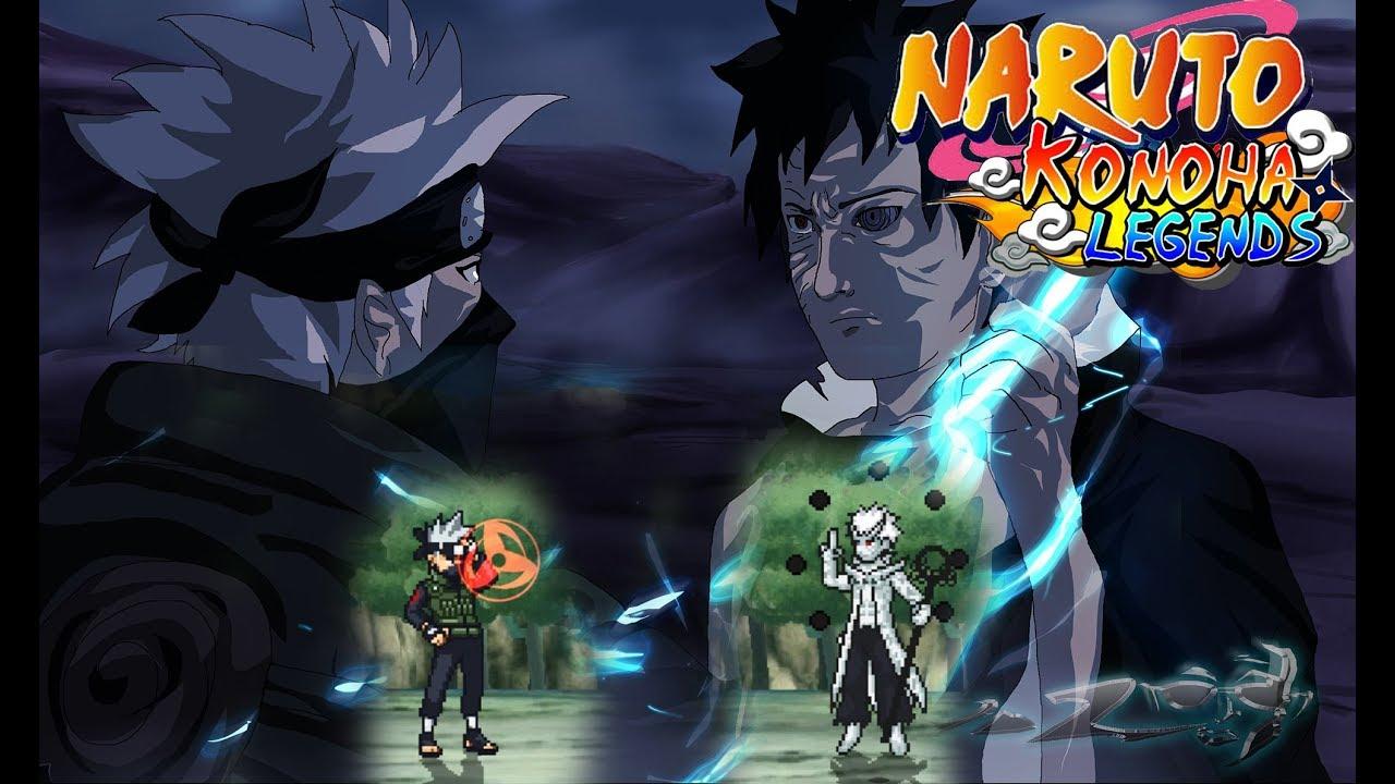 Kakashi vs Obito Jinchuriki - Naruto Konoha Legends GamePlay
