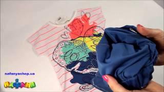 Комплект для девочки синие легинсы и туника арт 4136W(Комплект для девочки синие легинсы и туника арт 4136W купить можно в магазине Нафаня по ссылке http://nafanyashop.ua/produc..., 2015-05-24T11:08:24.000Z)