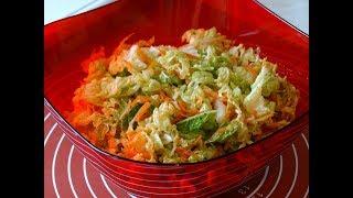 Салат за 5 минут. Салат из Пекинской (Китайской) Капусты/Salad in 5 minutes