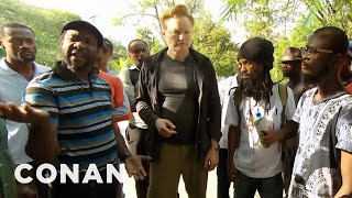 #ConanHaiti Preview: Conan Talks To Angry Haitians - CONAN on TBS