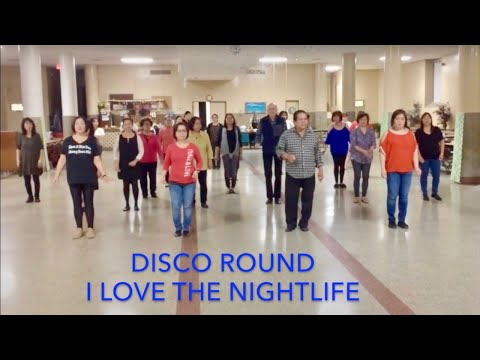 Disco Round Line Dance (I Love The Nightlife)