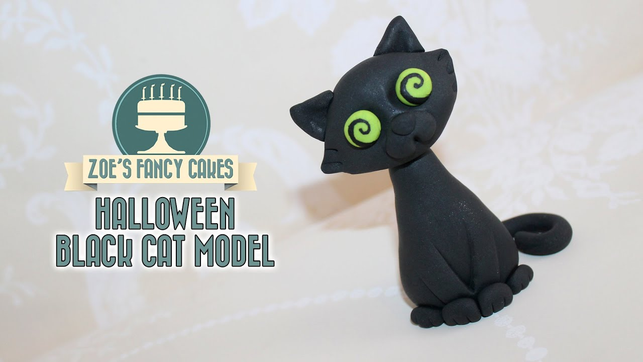 Black Cat Model How To Make A Black Cat Cake Topper