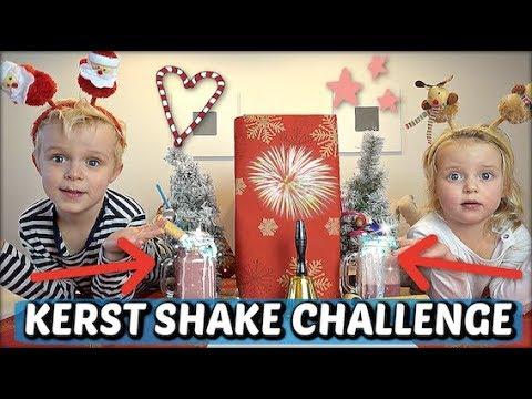 TWiN TELEPATHY CHRiSTMAS SHAKE CHALLENGE 🍨 ( broer & zus) | Luan Bellinga #83