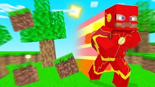 Running As FAST As The FLASH In Minecraft! (dangerous)
