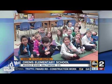 Orems Elementary School says Good Morning Maryland