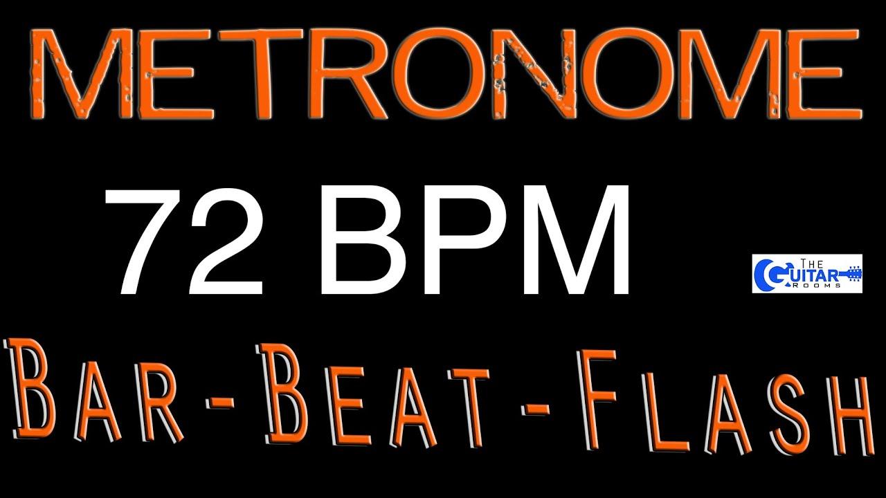 72 BPM FREE Metronome Best Free Online Metronome Beats Per Minute ...