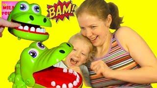 Вызов! КРОКОДИЛ ЧЕЛЛЕНДЖ! Милану покусал крокодил! Extreme Crocodile Dentist!