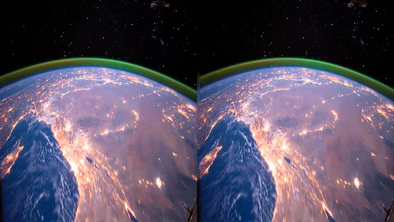 View of earth from space station in hd 3d youtube for Space in 3d