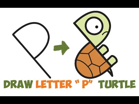 How to Draw a Cartoon Turtle Easy Step by Step Drawing for Kids