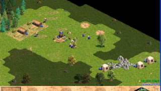 RFR_Gold vs Dinosaur 1: Age of Empires Rise of Rome Gameplay Multiplayer Video