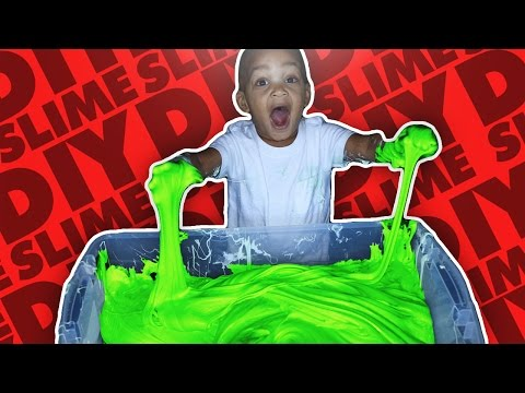 DIY MEGA FLUFFY SLIME | GIANT SLIME MONSTER | HOW TO MAKE FLUFFY SLIME!!!