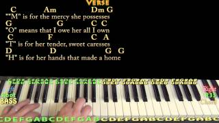 M.O.T.H.E.R. (A Word that Means the World to Me) Piano Cover Lesson with Lyrics/Chords